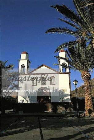 Spain, Canary Islands, Gran Canaria, Puerto de Las Nieves, church