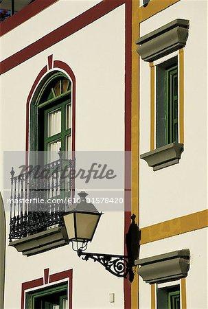Spain, Canary Islands, Gran Canaria, Puerto Mogan, facade of traditional dwelling
