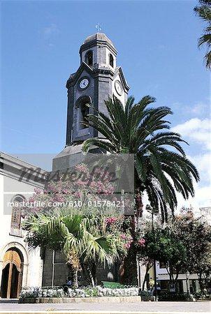 Espagne, Iles Canaries, Tenerife, Puerto de la Cruz, église de Nuestra Señora de la Pena de Francia