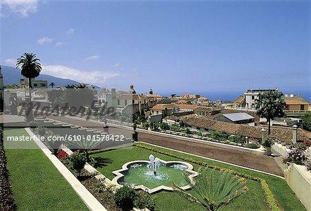 Espagne, Iles Canaries, Tenerife La Orotava, jardin du marquis de la Quinta Roja