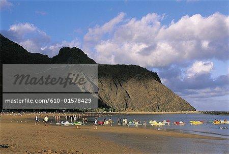 Espagne, Iles Canaries, Tenerife, Playa de Las Teresitas