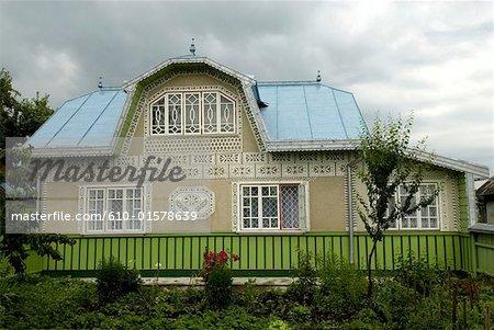 Romania, Moldavia, province of Bukovina, traditional dwelling