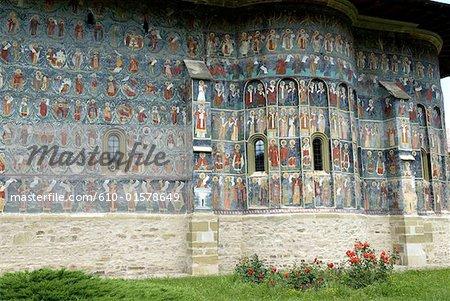 Roumanie, Moldavie, province de Bucovine, église du monastère de Sucevita, fresque