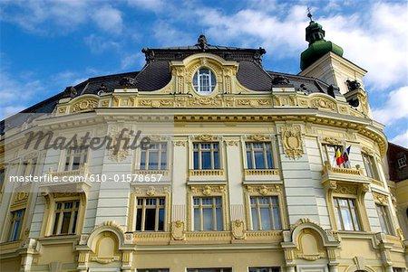 Romania, Transylvania, Sibiu, city hall on the Piata Mare Square
