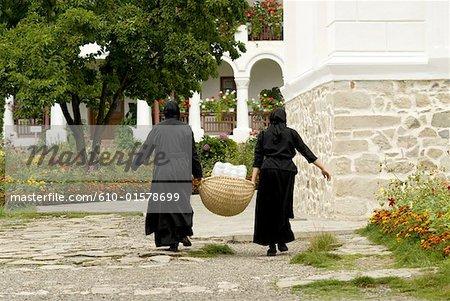 Province de Moldavie, la Roumanie, de Neamt, Monastère Agapia, moniales