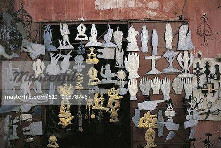 Morocco, Marrakech, souk of the tinsmiths