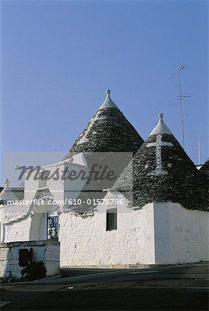 Italie, Puglia, Alberobello, appelé « Trullo » d'habitation traditionnelle