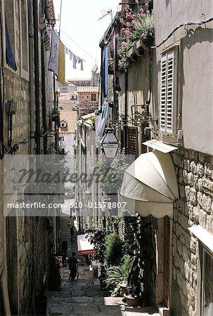Croatia, Dalmatia, Dubrovnik, lane