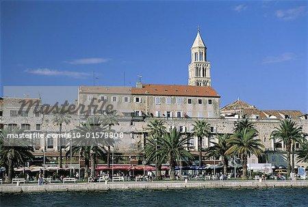 Croatie, Dalmatie, Split, Palais de Dioclétien et Cathédrale