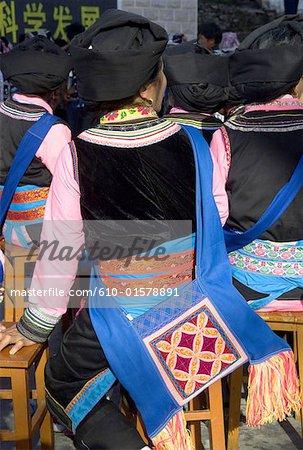 China, Yunnan, Lancang, Lissu woman wearing traditional costume