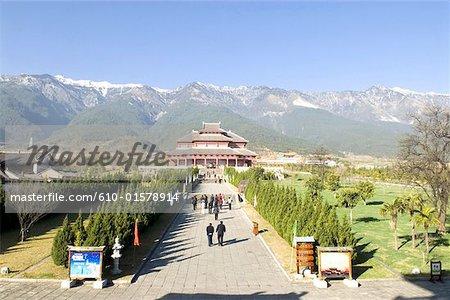 Chine, Yunnan, Dali, Temple d'yoan constantin