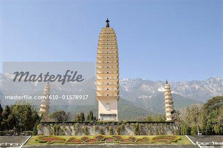 Dali, Yunnan, la Chine, les trois pagodes