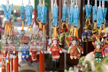China, Yunnan, Dali, dolls wearing traditional costume