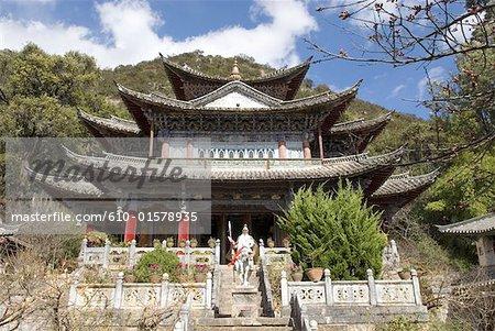 Chine, Yunnan, Lijiang, bassin du dragon noir Park, temple taoïste