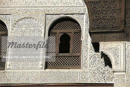 Morocco, Meknes, Bou Inania madrasah, mashrabiya