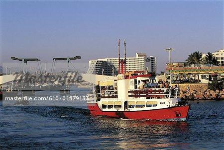 Israel, Eilat, bateau sur la mer rouge