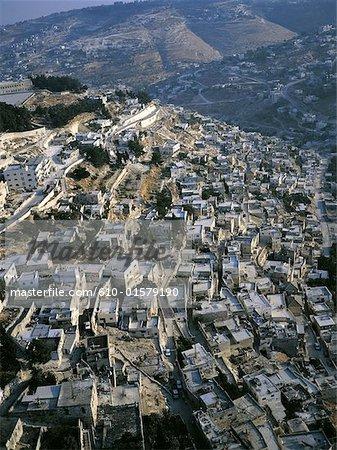 Vue aérienne d'Israël, Jérusalem, du quartier palestinien
