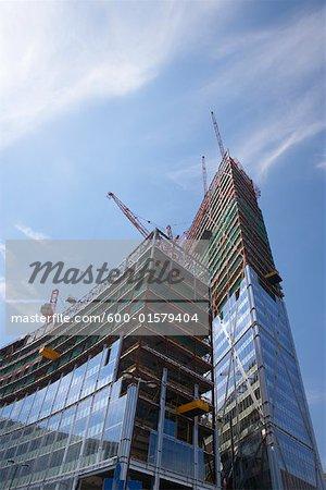 Immeuble en Construction, Londres, Angleterre
