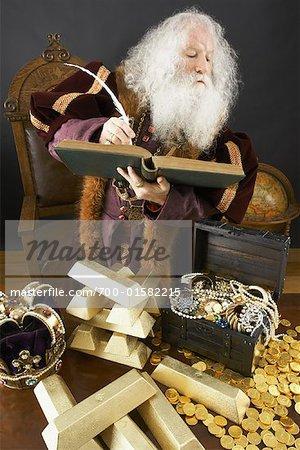 King Counting His Treasure