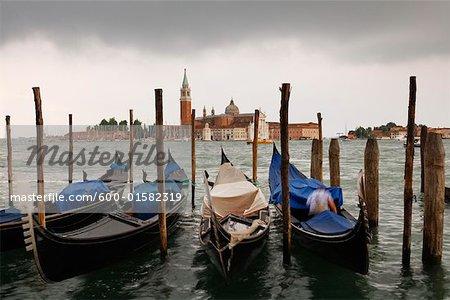 Bateaux, San Giorgio Maggiore, Venise, Italie