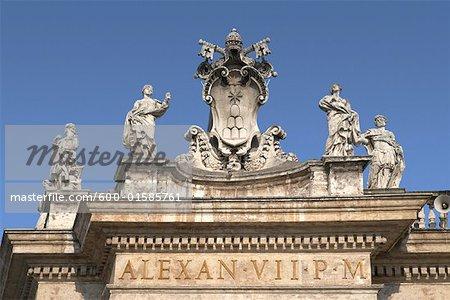 Détail de la basilique Saint-Pierre, Rome, Italie