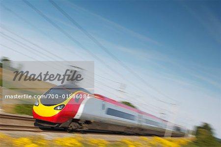 Elektrischer Hochgeschwindigkeitszug, Northamptonshire, England