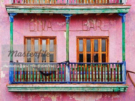 Extérieur du coloré bâtiment, Cartagena, Colombie