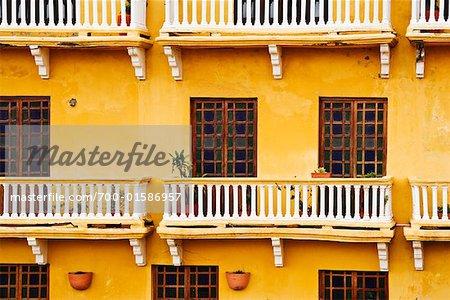 Extérieur du bâtiment, Cartagena, Colombie