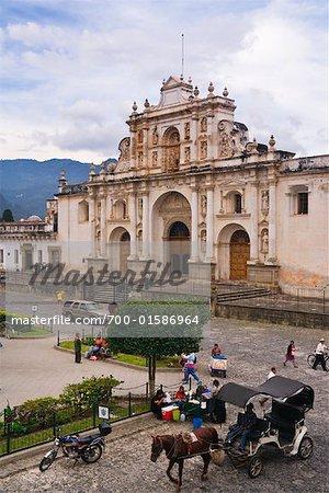 Parque Central et Catedral de San Jose, Antigua, Guatemala