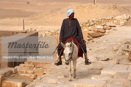Man on Donkey, Saqqara, Egypt