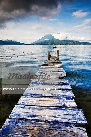 Dock on Lake Atitlan, Santa Catarina Palopo, Guatemala