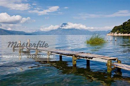 Quai sur le lac Atitlan, Santa Catarina Palopo, Guatemala