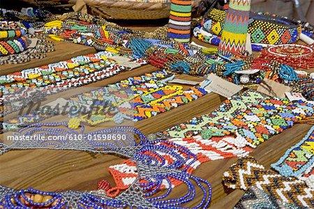 Afrique du Sud, Zululand, bijoux faits à la main