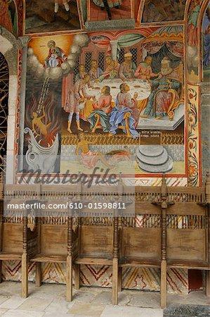 Bulgaria, Rila, monastery, fresco