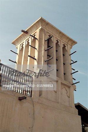 United Arab Emirates, Dubai, old Bastakiya district, wind tower