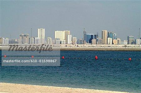 Émirats Arabes Unis, Dubaï, ruisseau Port, tour et bateau