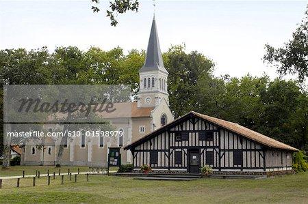 France, Aquitaine, Lit-et-Mixe, église