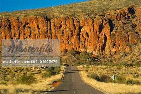 Gorge de Glen Helen, West MacDonnell National Park, territoire du Nord Australie