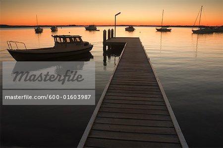 Boats and Dock, Lake Macquarie, New South Wales, Australia