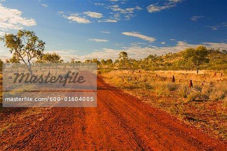 Chemin de terre, l'Outback australien, Queensland, Australie