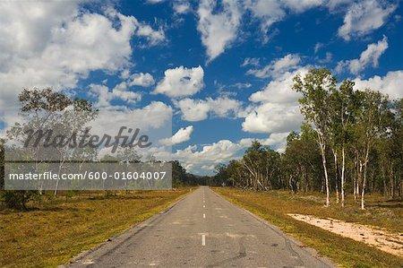 Route dans l'Outback australien, Queensland, Australie