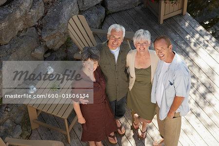 Portrait of Couples on Deck