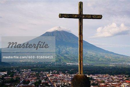 Agua Volcano, Cerro de la Cruz, Antigua, Guatemala