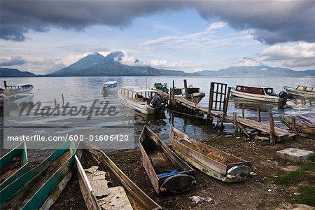 Fishing Boats, Lake Atitlan, Santa Catarina Palopo, Guatemala