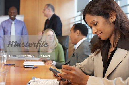 Gens d'affaires de la réunion