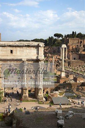 Arch of Septimus Severus, The Forum, Rome, Italy