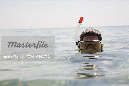 Femme plongée