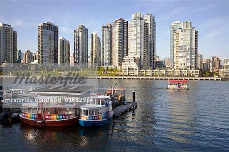 Passenger Ferries on False Creek, Granville Island, Vancouver, British Columbia, Canada