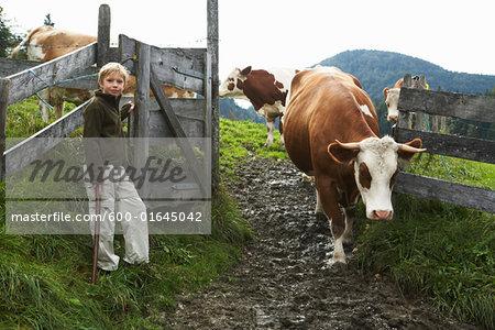 Boy on Farm