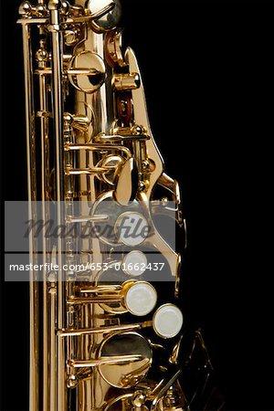 Détail d'un saxophone